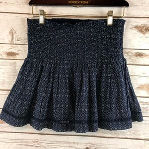 Paige skirt small smocked ruffle blue eyelet NWOT